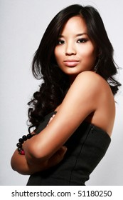 Beautiful young asian model