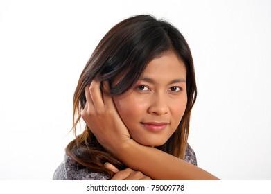 A beautiful young Asian woman