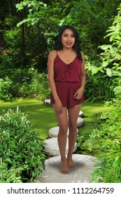 Beautiful young attractive hispanic woman modeling a pose
