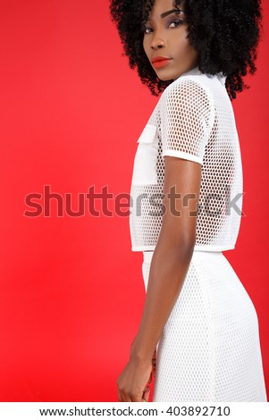 6f850d72a1b Beautiful Young Black Girl Hair Afro Stock Photo (Edit Now ...