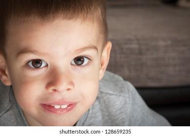 Beautiful young boy portrait
