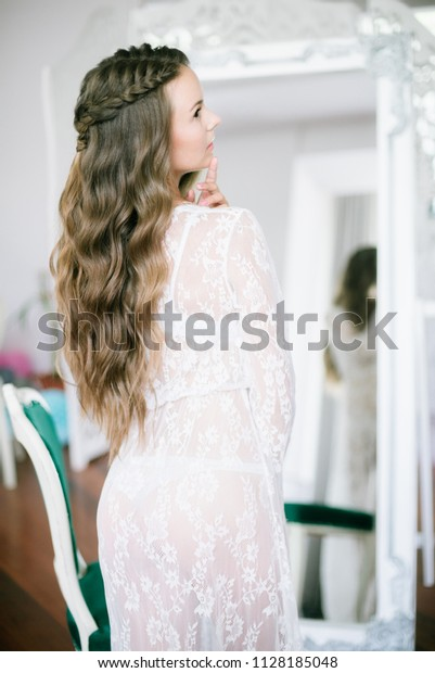 Beautiful Young Bride Long Blond Curly Stock Photo Edit Now