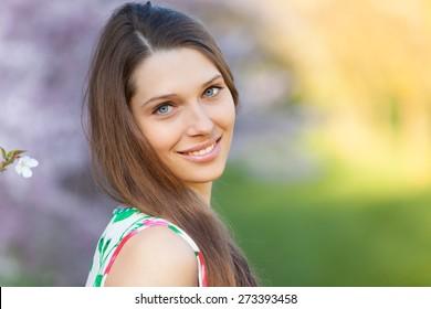 Woman Outdoor Spring Images Stock Photos Vectors Shutterstock