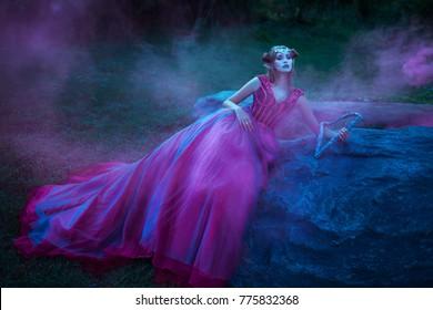 Beautiful young elf woman