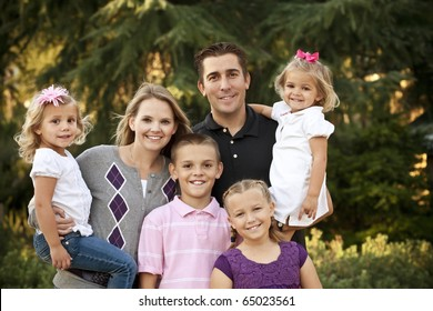 A Beautiful Young Family Portrait