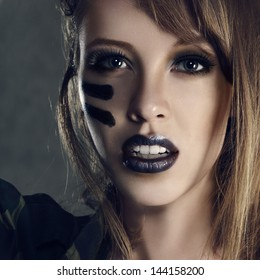 Army Face Paint Images Stock Photos Vectors Shutterstock