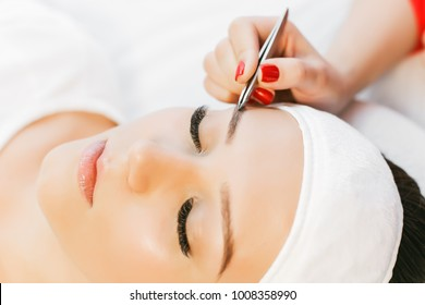Micro Blading Brows Stock Photos, Images & Photography