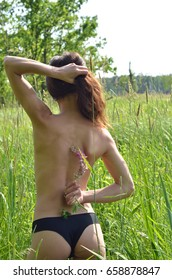 Beautiful young girl and pure nature