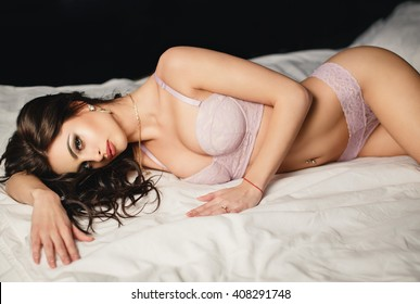 Beautiful young girl in a sexy lingerie