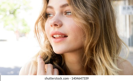 beautiful young girl. Young woman beauty face portrait