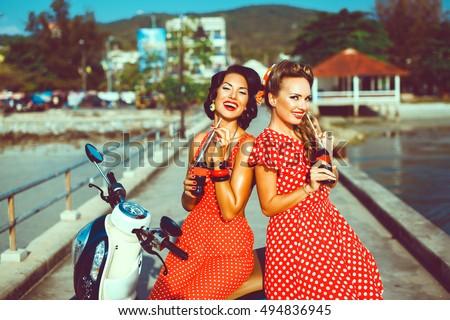 Beautiful young girls in