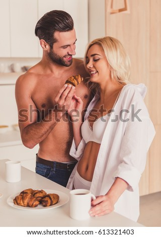 Naked couple licking on bed will not
