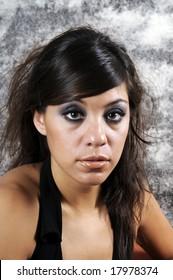 Beautiful young hispanic woman in closeup