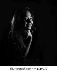 A Beautiful Young Indian woman beautiful black and white photos of a attractive girl, lowkey