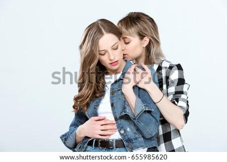 Elegant lesbian tender