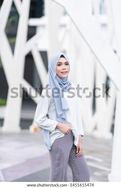 Beautiful Young Model Fashionable Hijab Style