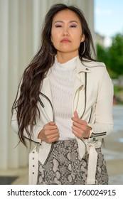 A beautiful young Mongolian woman.