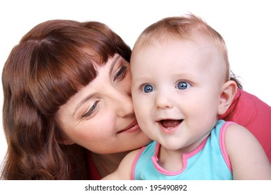 beautiful young mother with her cute little child