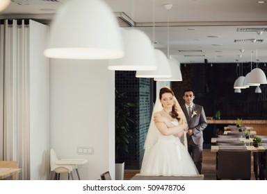 Beautiful young people's wedding