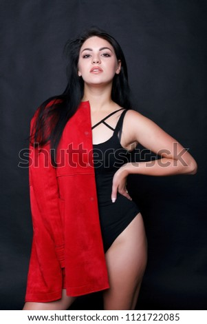 Beautiful Young Plump Woman Black Body Stock Photo (Edit Now ... 54795aa06