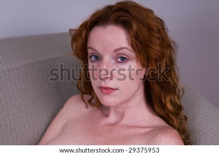 Nude red heads on couch will not
