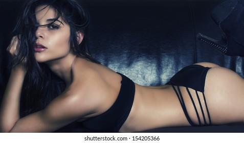 Beautiful; young woman