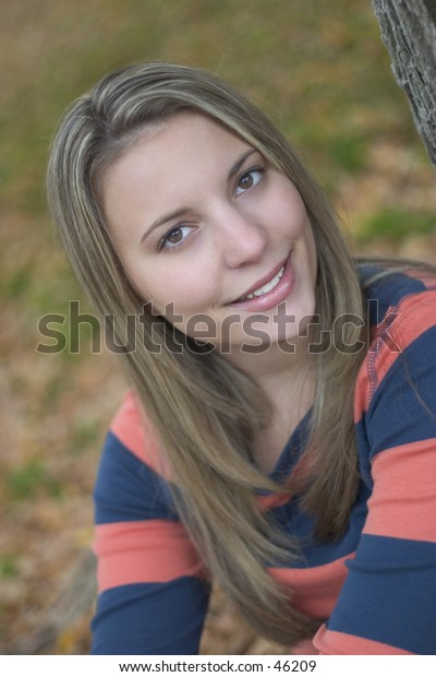 A beautiful young woman.