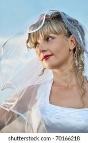 beautiful  young woman bride portrait