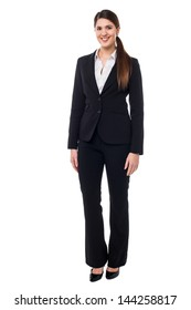 Beautiful young woman in business attire