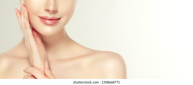 Beautiful young woman with clean fresh skin.