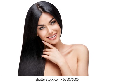Beautiful Young Woman with Clean healthy hair