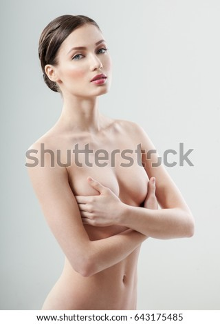 Pretty nude breasts