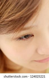 Beautiful young woman eyelash extension