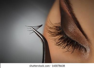 Eyelash Extensions Images Stock Photos Vectors Shutterstock