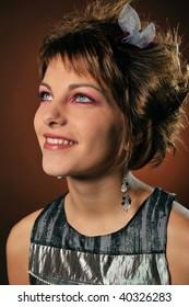 beautiful young woman with fashion make-up