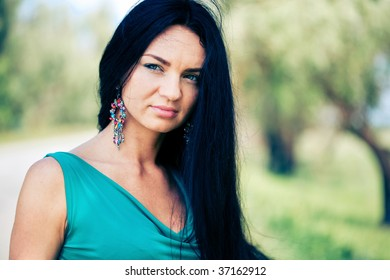 Beautiful young woman outdoor portrait