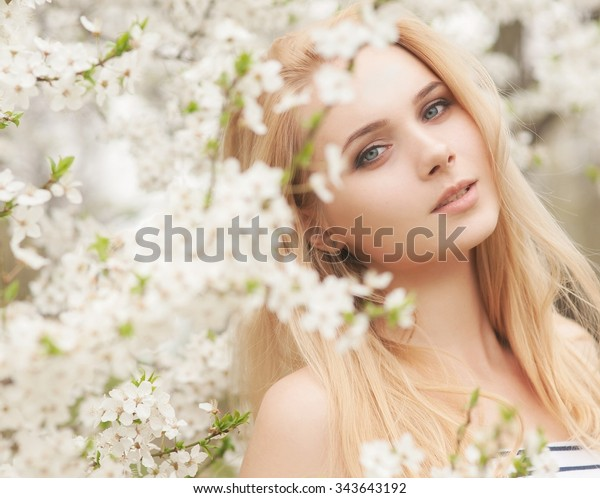 beautiful Young woman outdoors portrait
