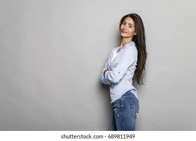 Beautiful young woman in relaxed pose