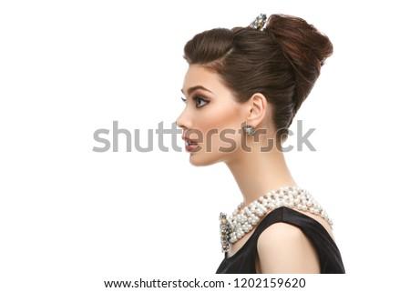 beautiful young woman in