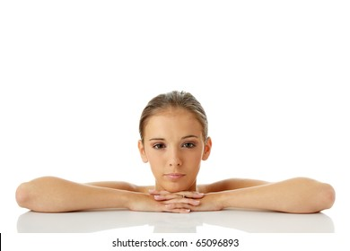 Beautiful young woman. Spa concept