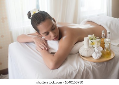Beautiful young woman in spa salon massage, relax and healthy.
