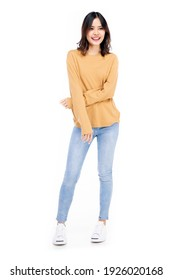 Full pic girl Asian Woman Casual Standing Full Body Images Stock Photos Vectors Shutterstock