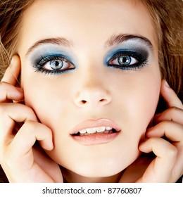 Beautiful young woman studio shot portrait.