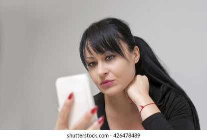 beautiful young woman using your smart phone