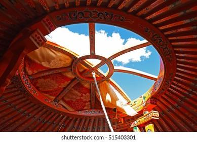 Beautiful yurt in Mongolia