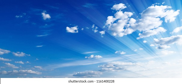 Beautifull Blue Sky with Cloud Watercolor