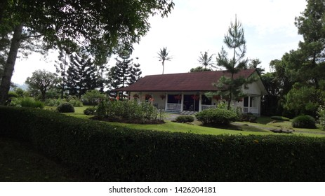 Beautifull house in the garden located in the middle of nusantara flower garden, cianjur, west java, indonesia.