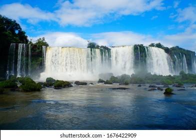 beautifull iguazu falls brazil view