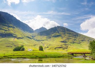beautifull landscape near Three sisters at glencoe