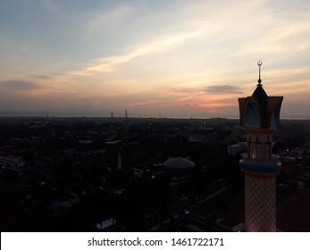 Beautifull mosque Islamic Centre of West Nusa Tenggara, Lombok, Indonesia. Landscape, building, landmarks